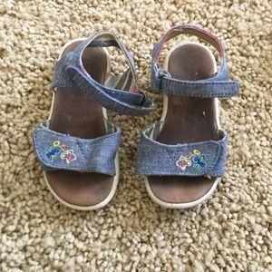 Flower sandals.